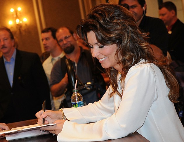 Shania Twain with her fans