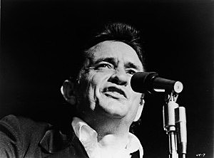 Headshot of Johnny Cash Singing