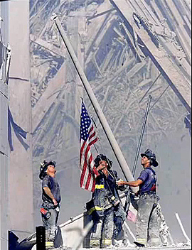 Flag Raising on 9/11