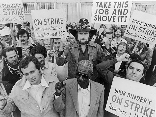 Johnny Paycheck Striking With Teamsters, 1977.