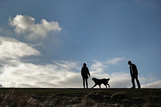 People Enjoy Walk In The Surrey Hills