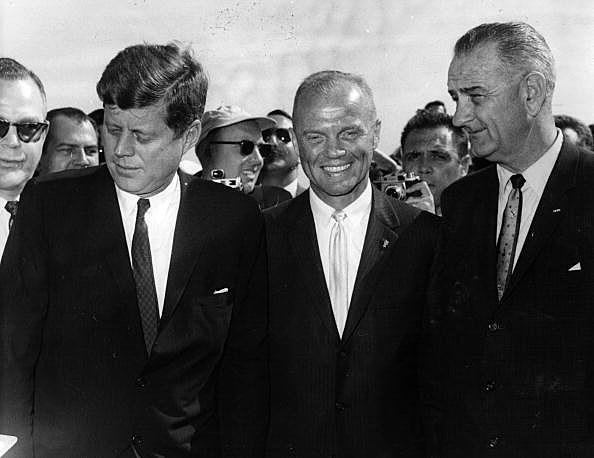 John Glenn, President Kennedy, Vice President Johnson