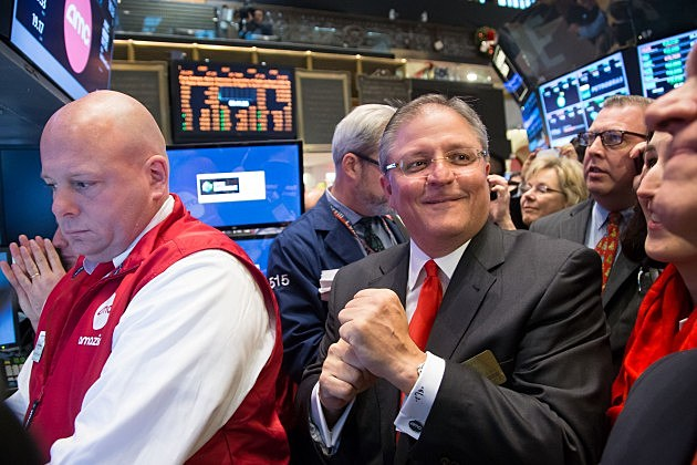 AMC Entertainment CEO Gerry Lopez Rings Opening Bell at the New York Stock Exc