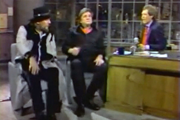 Waylon Jennings and Johnny Cash on David Letterman